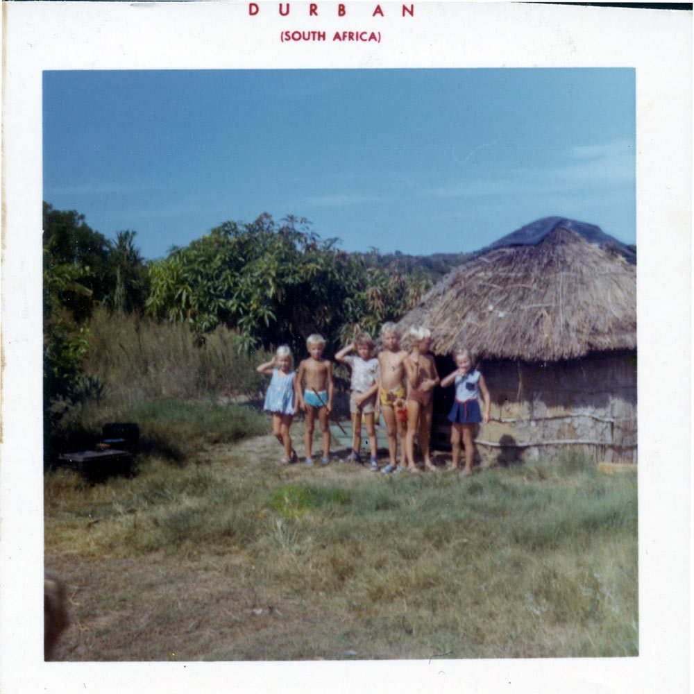 A snap from Ghislaine's early days in South Africa.
