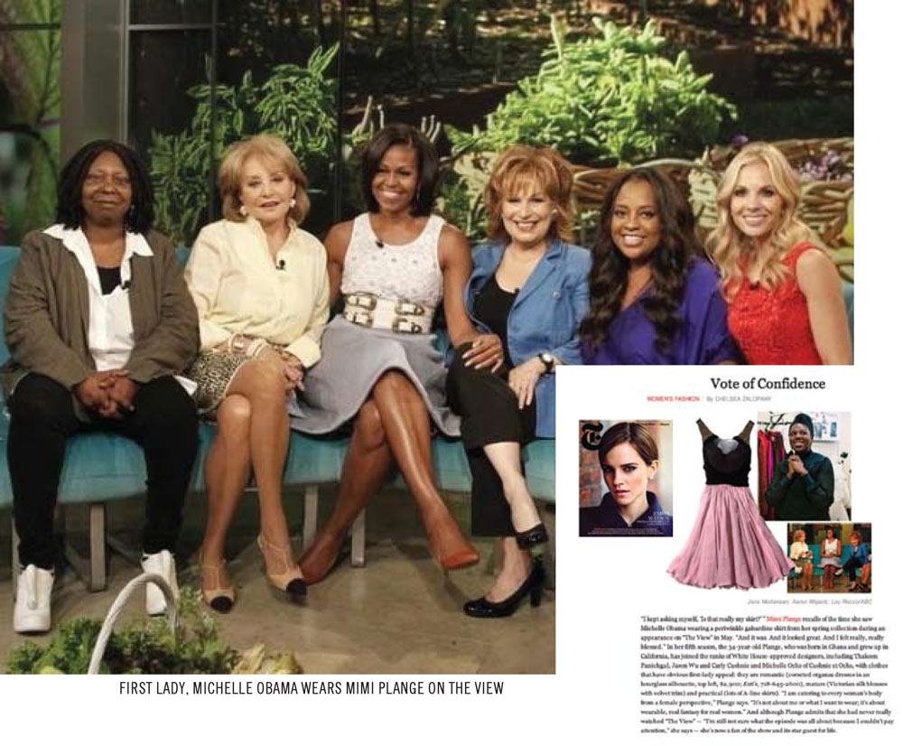 Michelle Obama wearing Mimi's dress on The View