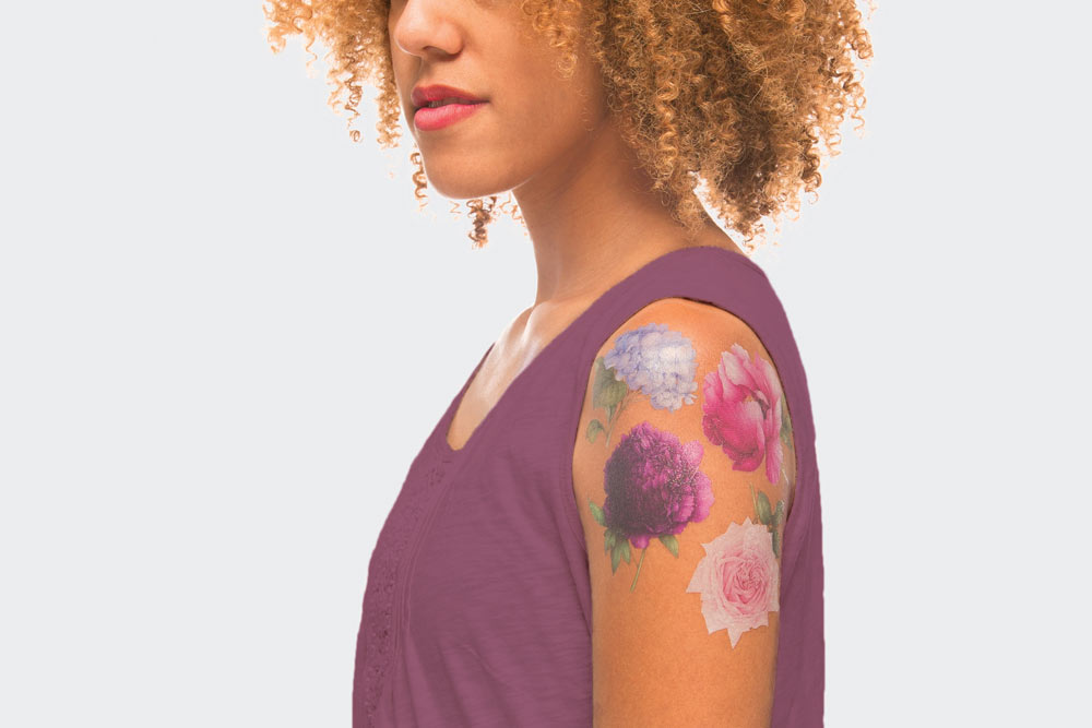 Scented floral Tattly temporary tattoos