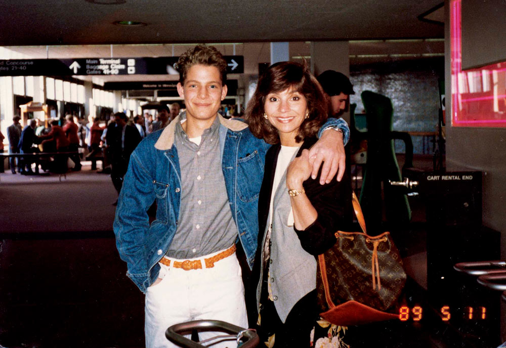 Young Nate and his mom