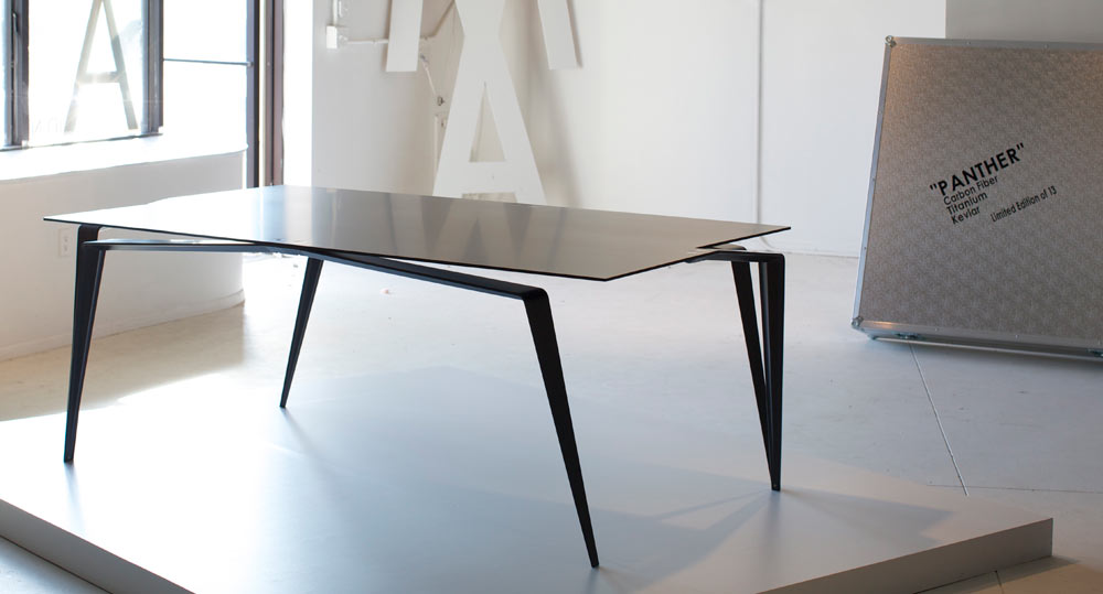Panther dining table / Photo by Tanya Malott