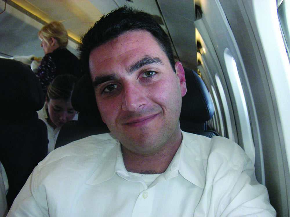 Lawrence on Concorde, 30th Birthday 2003 at an altitude of 60,000