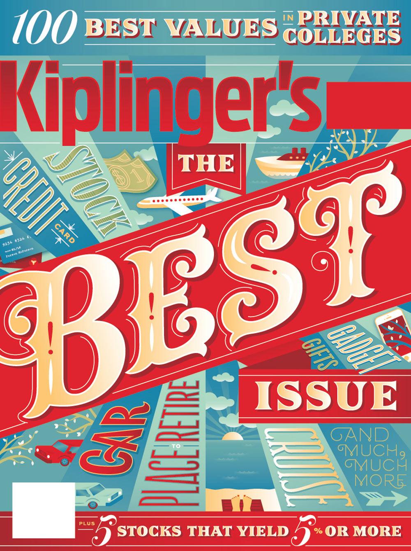 Work by Jessica Hische: Client: Kiplinger's Magazine / Art Direction: Stacie Harrison