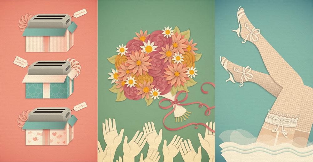Work by Jessica Hische: Client: New York Magazine / Art Direction: Caroline Crafton