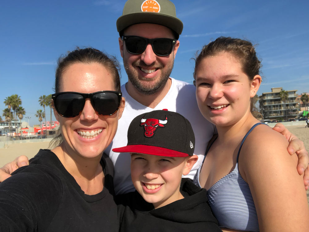 Zoë and her family