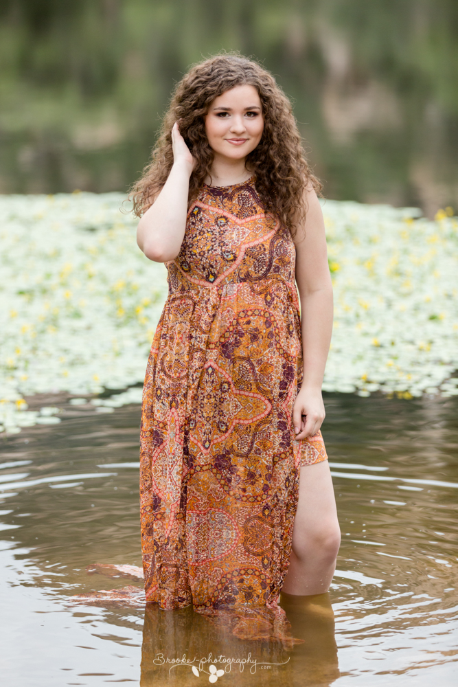 When asked to describe her perfect photo shoot, Camryn said that she imagined going into the woods somewhere with water. Granite Lake was the perfect location, and Camryn didn't hesitate to get in the water.