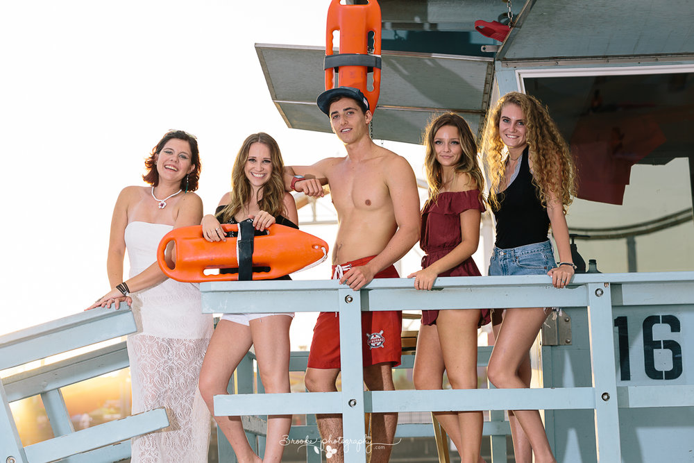 You can't leave the beach without taking a picture with a lifeguard! This lifeguard at Santa Monica Tower 16 was such a great sport posing with the girls.