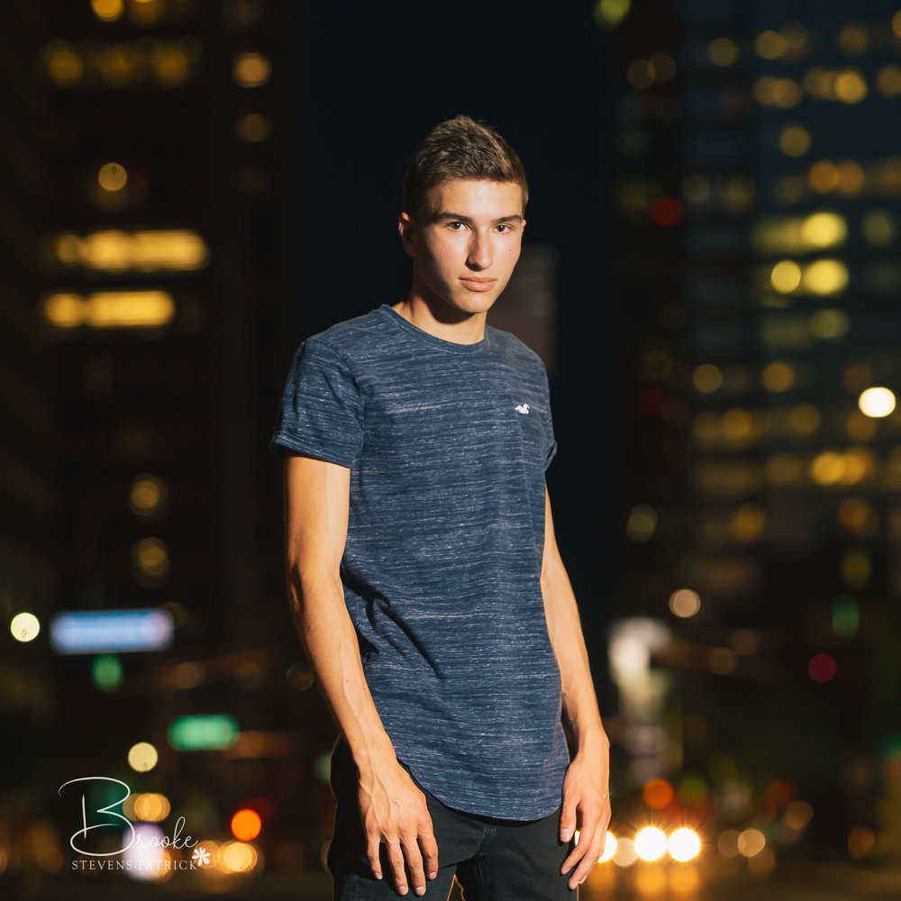 Cole really wanted a cityscape with a lot of lights, and downtown Phoenix was perfect! Cole is very into sports, especially volleyball. He plays volleyball for PHS, as well as basketball...he also manages the PHS girls volleyball team. He would like to attend the University of Colorado at Boulder in the Fall of 2019.