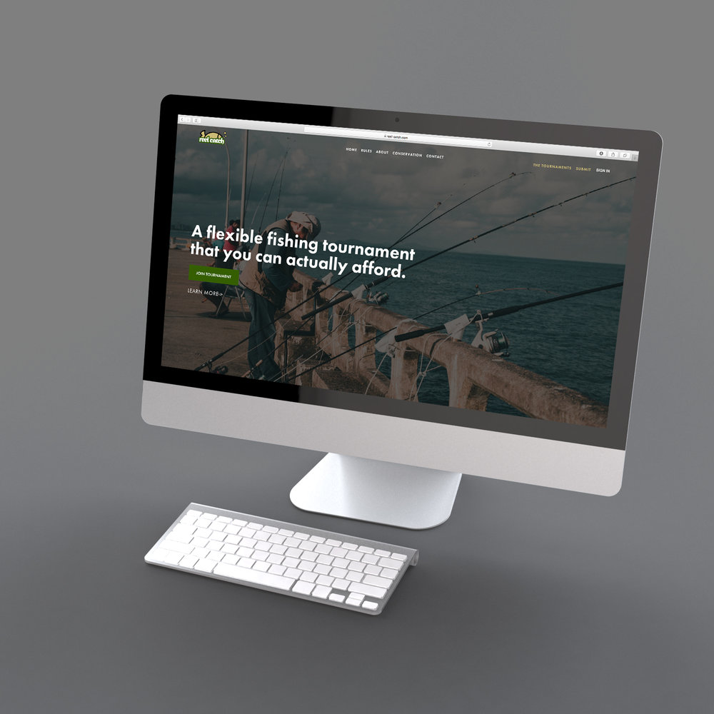 We designed Reel Catch's website. Click the image to visit it