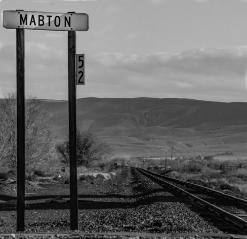 "Gary Bailey  ""Mabton,"" 2016  black and white photograph  Yakima, WA  10""x10""x0""  $175"