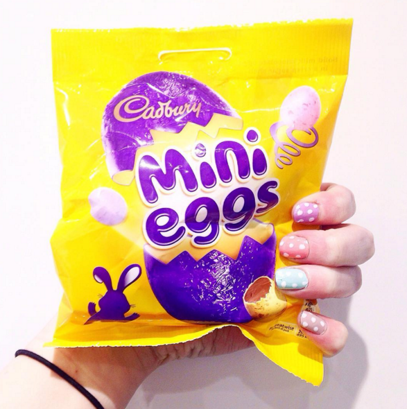 Mini Eggs packet.