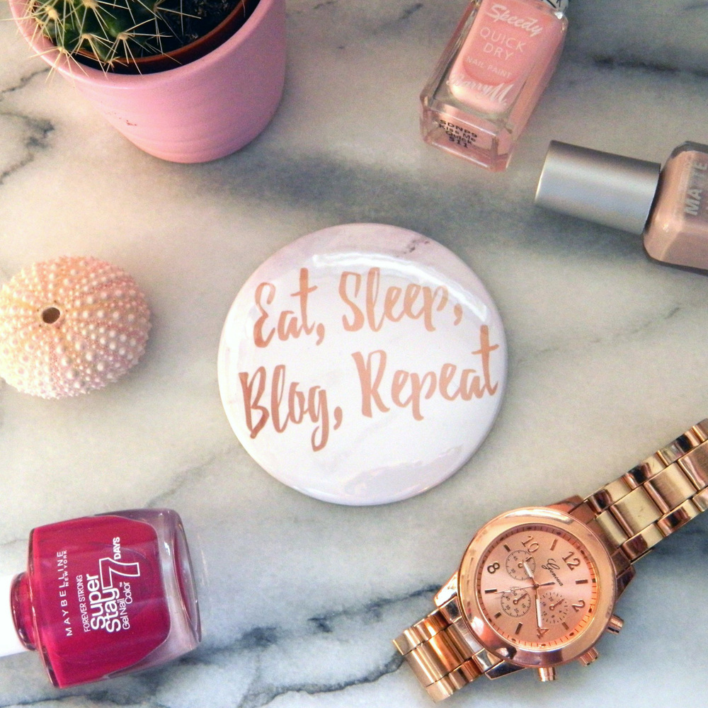 Eat Sleep Blog Repeat Pocket Mirror.