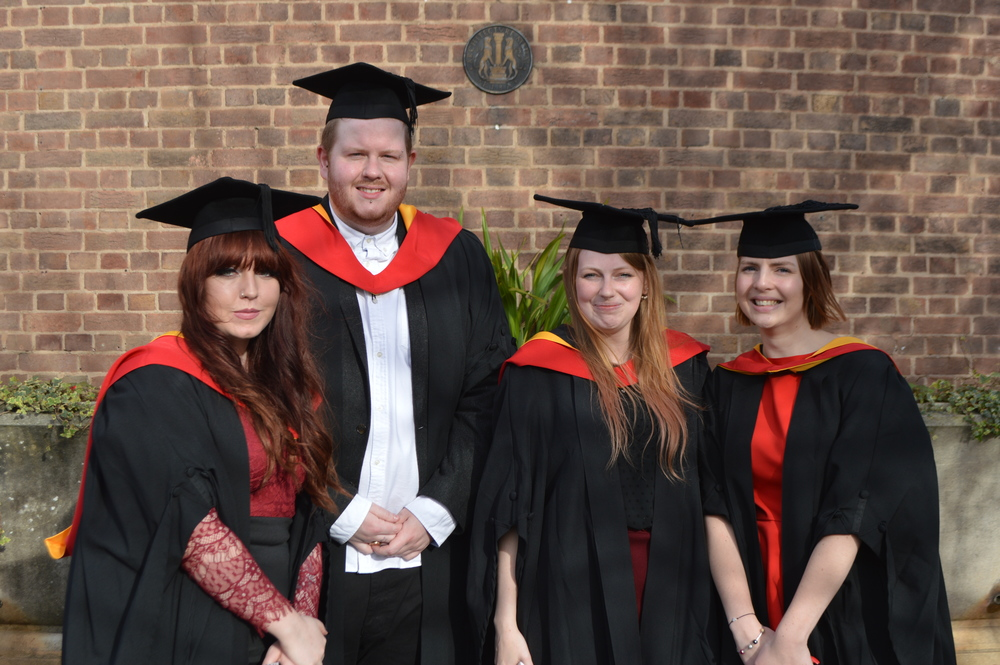 My graduation photo with my besties.