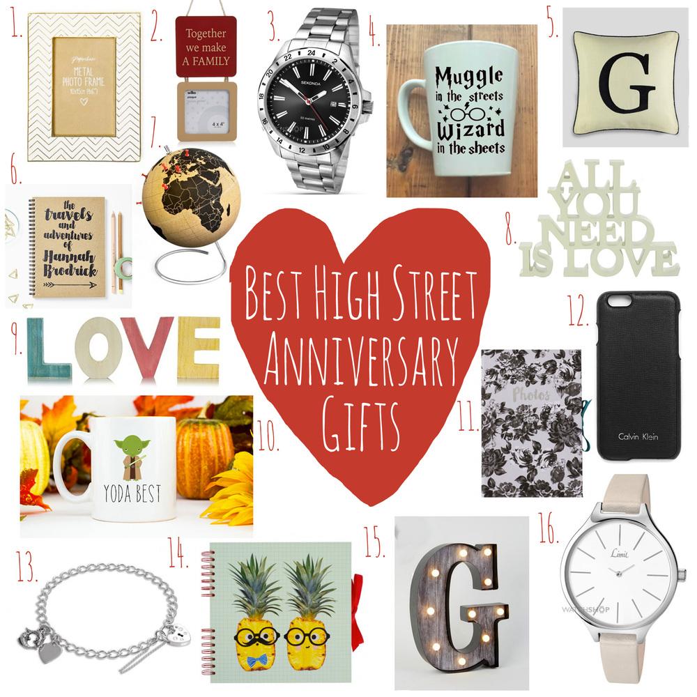 16 Anniversary Gift Ideas.