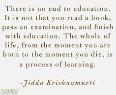 Jiddu Krishnamurti quote from Pinterest.