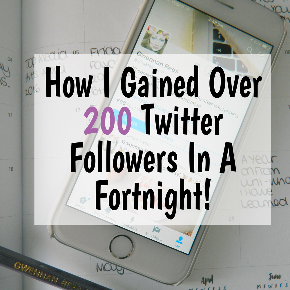 How I Gained Over 200 Twitter Followers In A Fortnight.