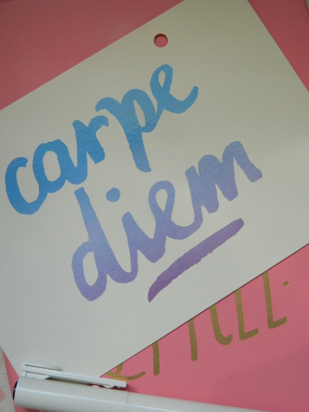 Carpe Diem postcard from Paperchase.