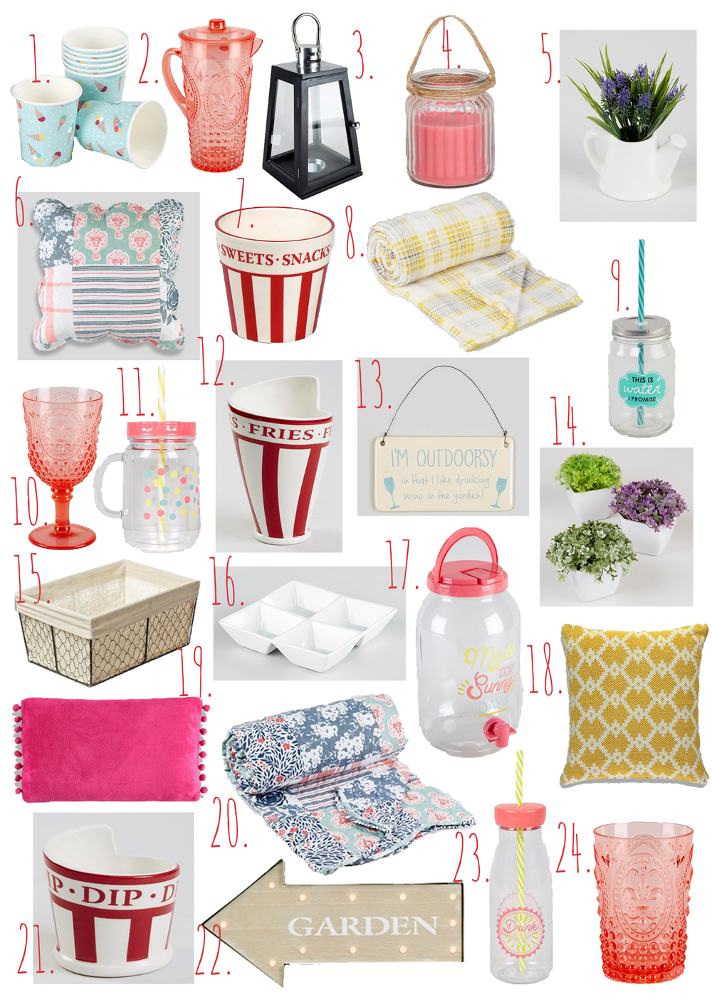 Matalan Summer Homeware Wishlist.