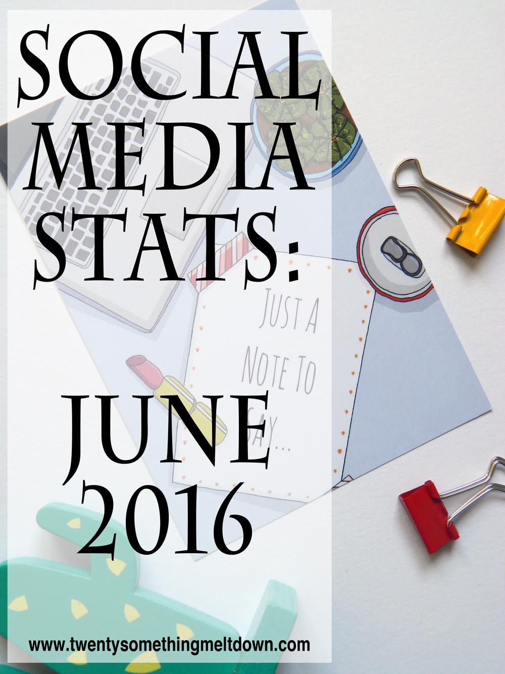 Social Media Stats - June 2016.