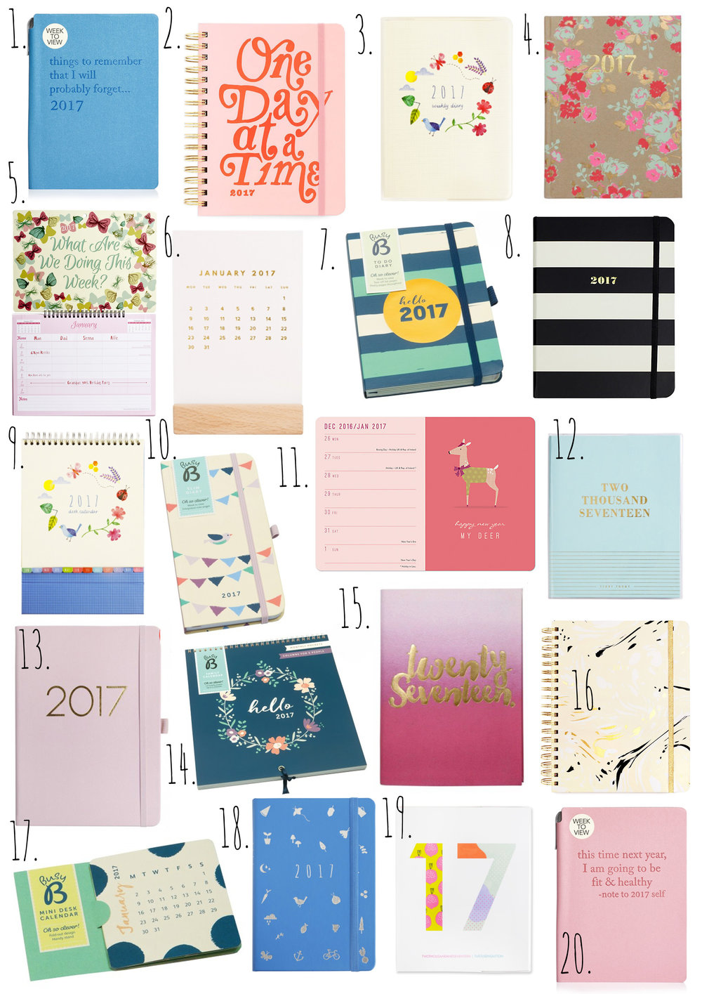 2017 Stationery Dream List.