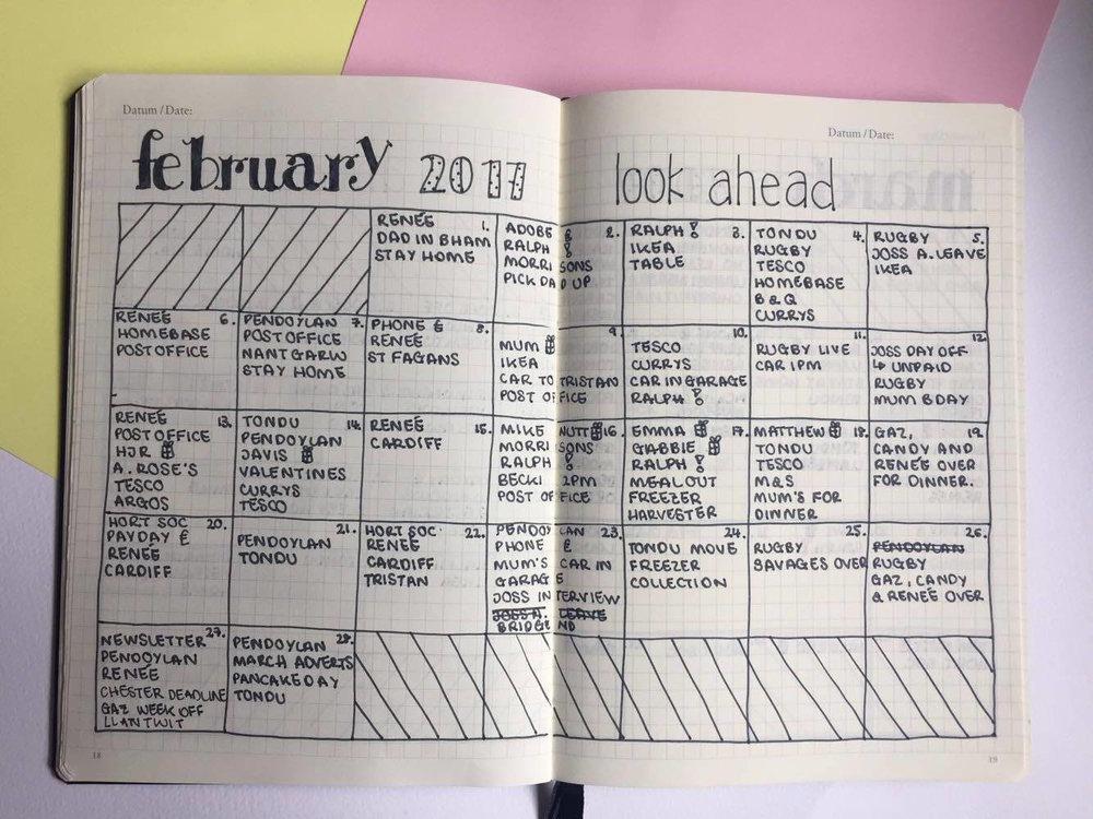 February Look Ahead.