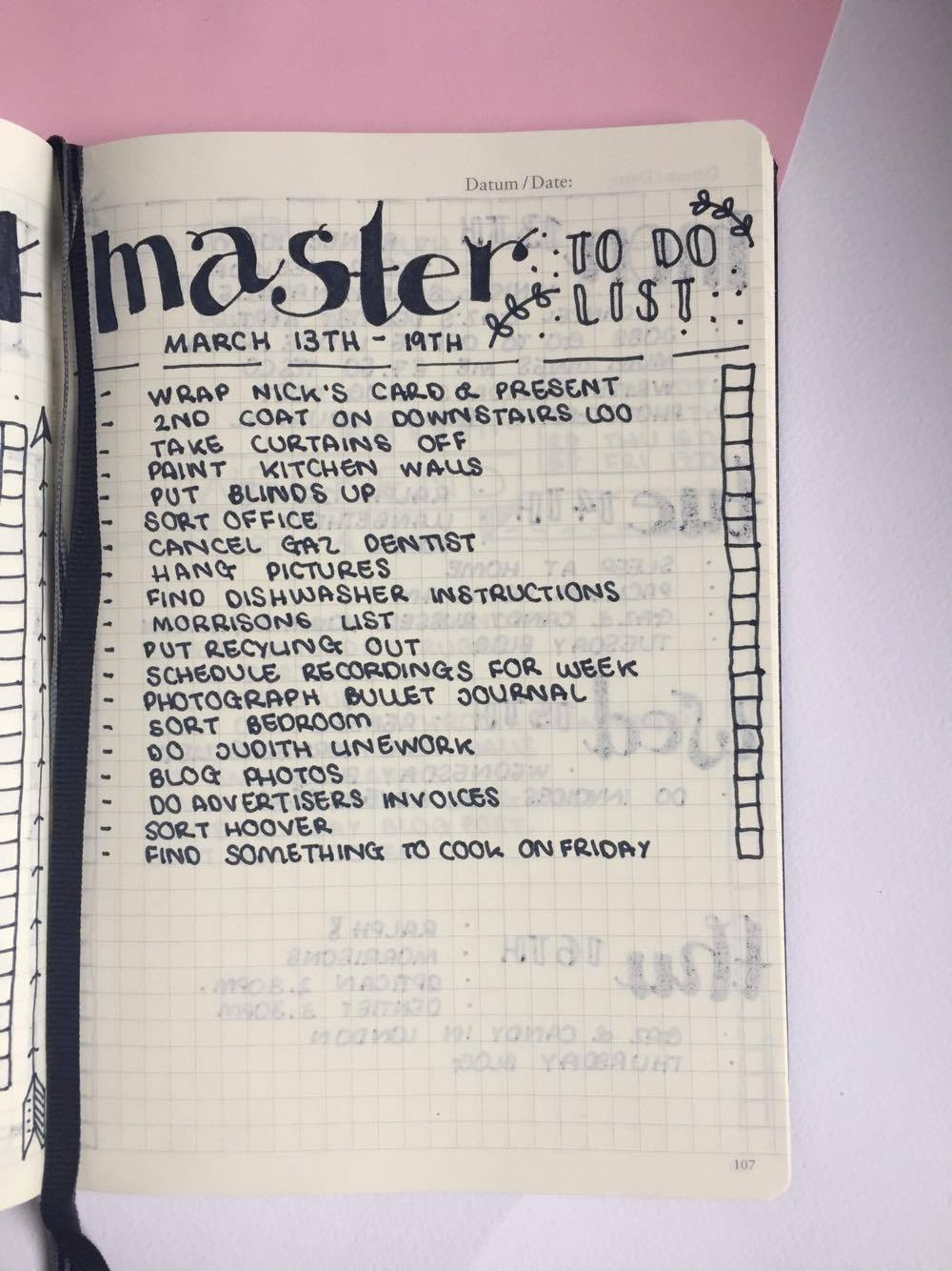 Master To Do List.