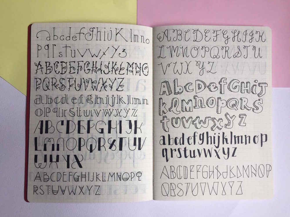 Fonts and Lettering.