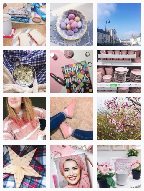 Current pink Instagram theme.