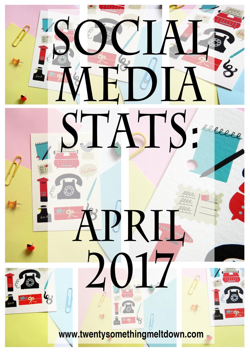 Social Media Statistics - April 2017.