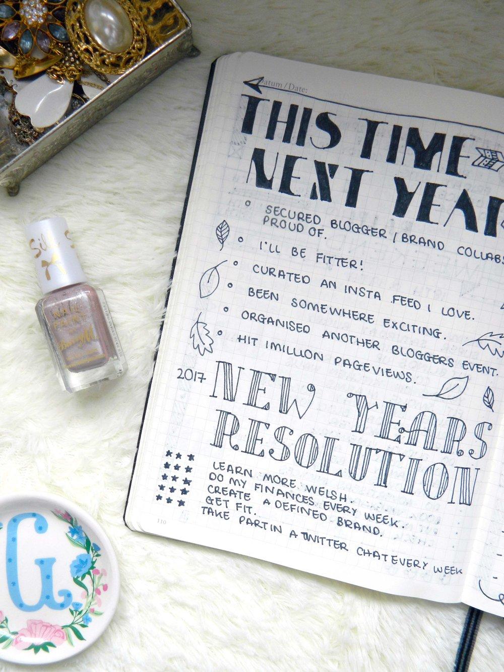 NYE Resolutions 2017.