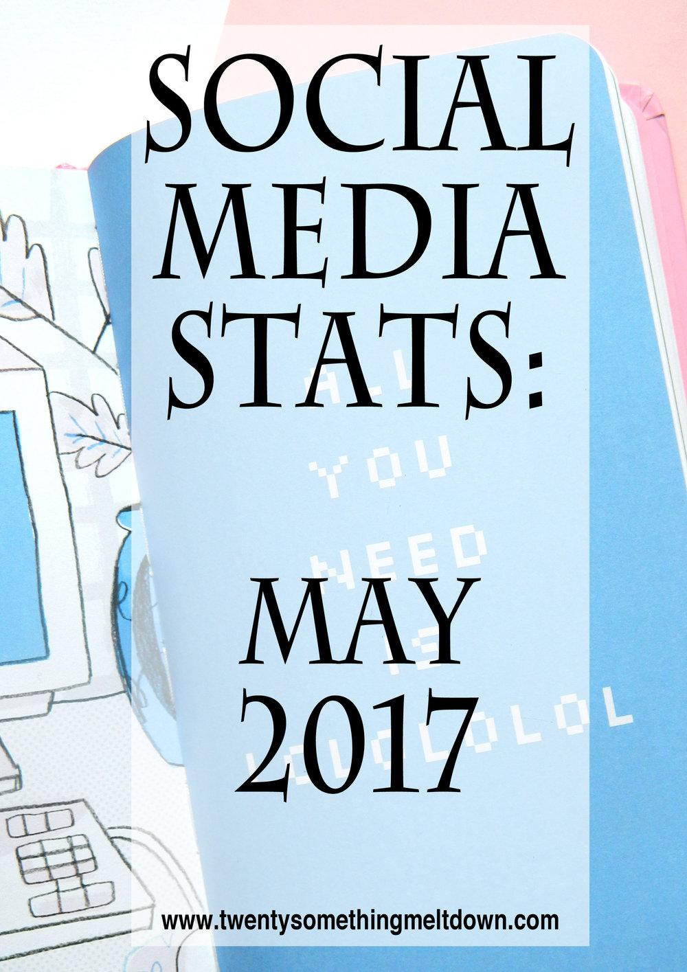 Social Media Statistics - May 2017.