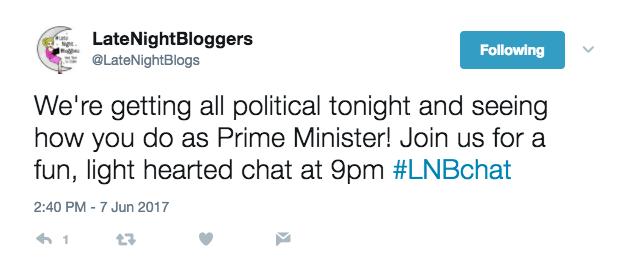 @LateNightBloggers - Wednesdays at 9pm.
