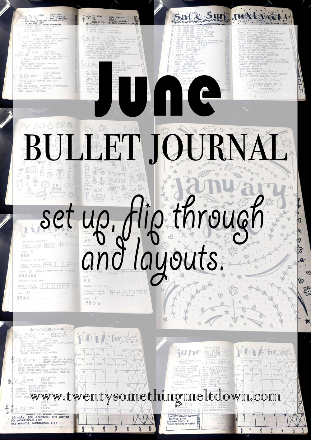June 2017 Bullet Journal.