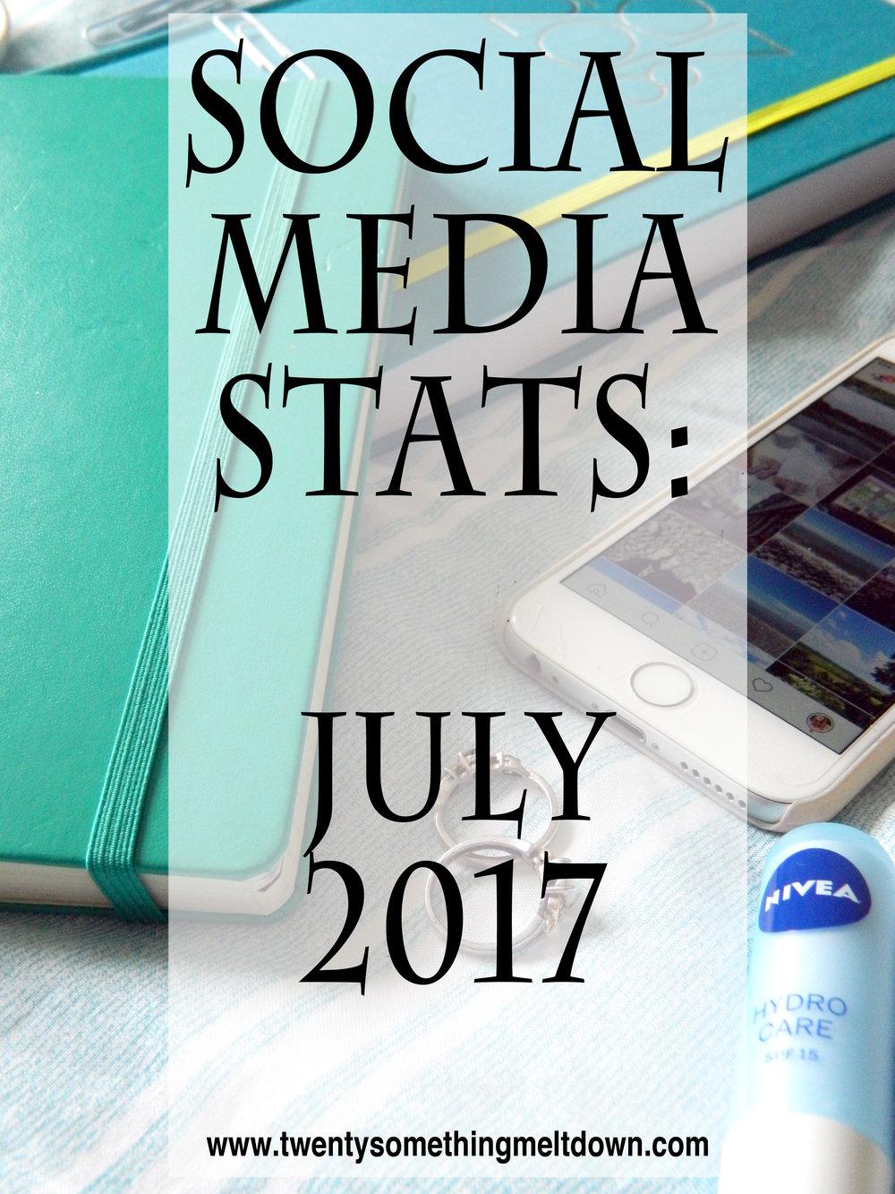 Social Media Statistics - July 2017