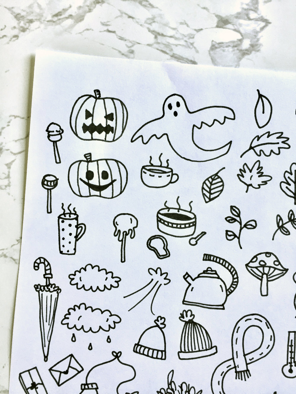 Free Autumn Bullet Journal Printables