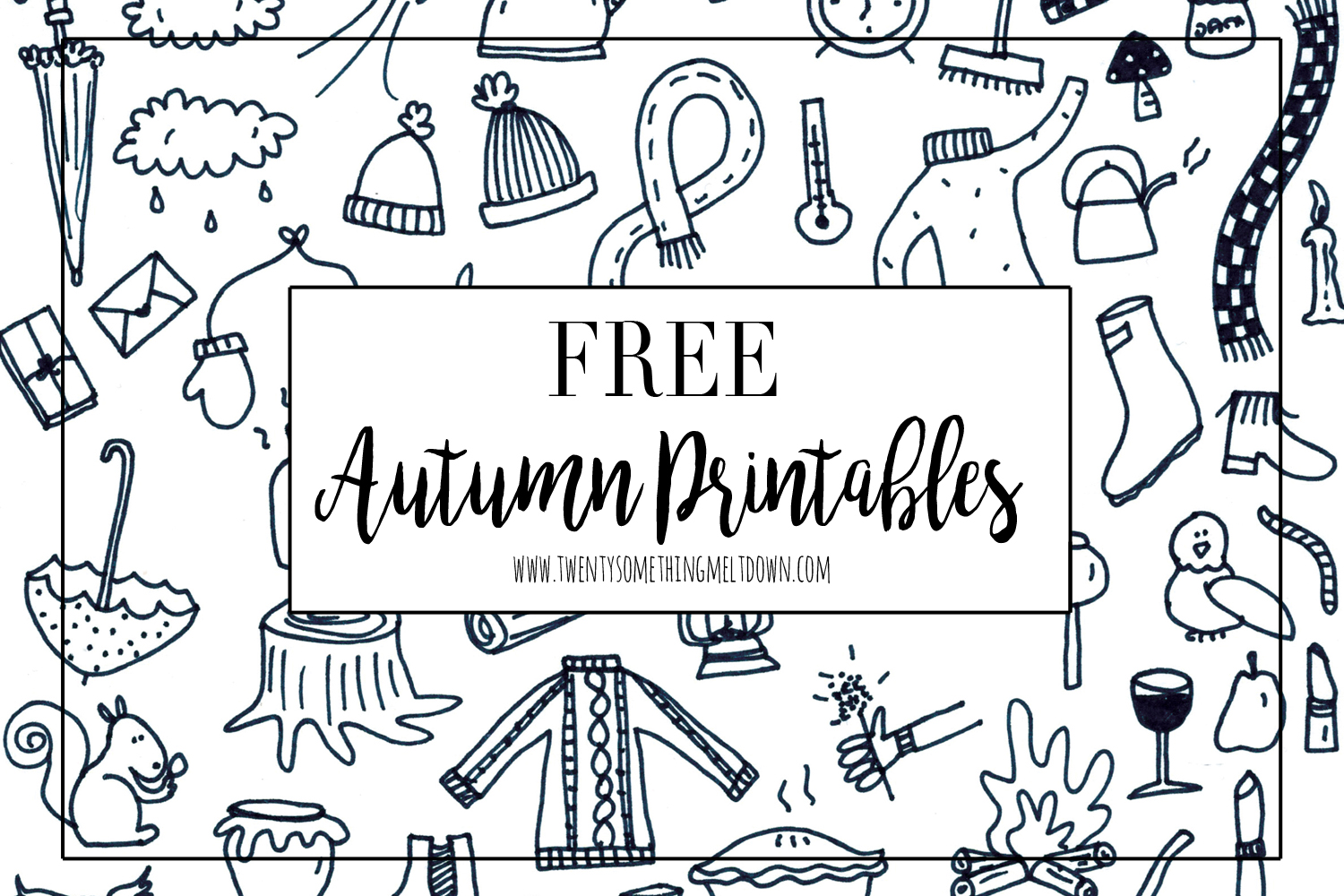 Free Autumn Printables For Your Bullet Journal Or Planner Gwennan Rees
