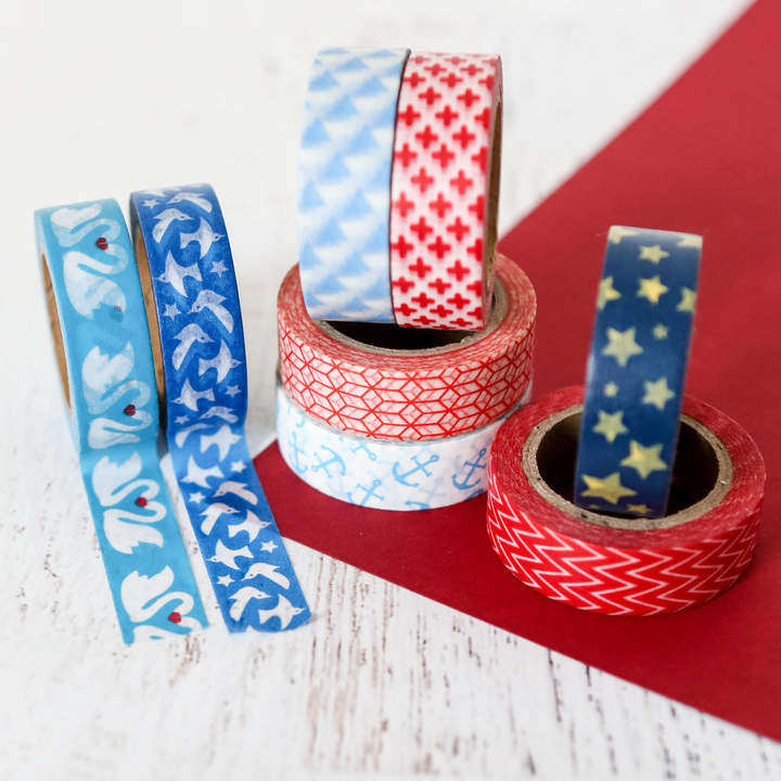 Red white and blue washi tape