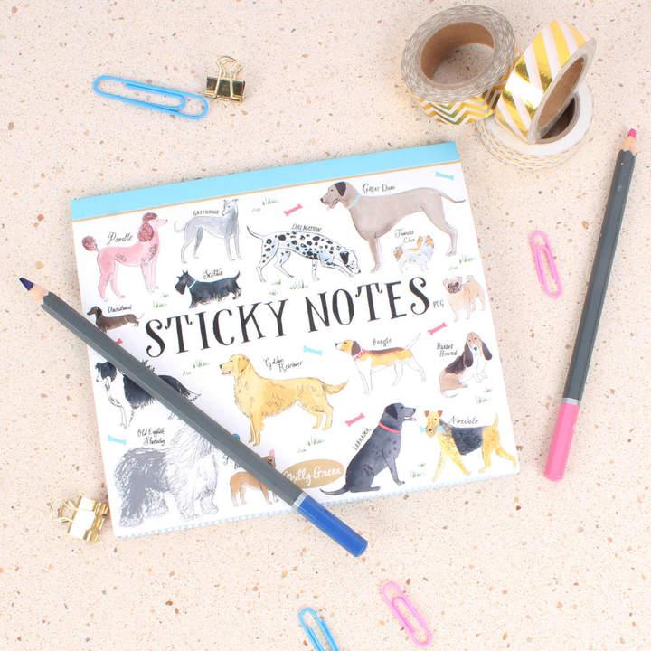 Dog sticky notes
