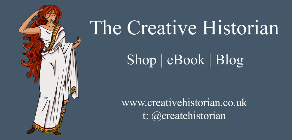 The Creative Historian - Blog; www.creativehistorian.co.ukTwitter; @createhistorianInstagram; @thecreativehistorianPinterest; @createhistorianFacebook; www.facebook.com/creativehistorian