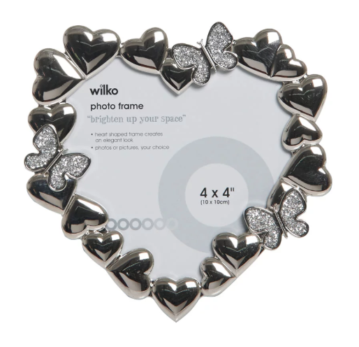 Heart Shaped photo frame - £6.00 from Wilko