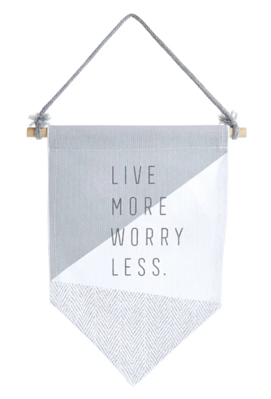 Love more hanging fabric - £5.00 from Wilko