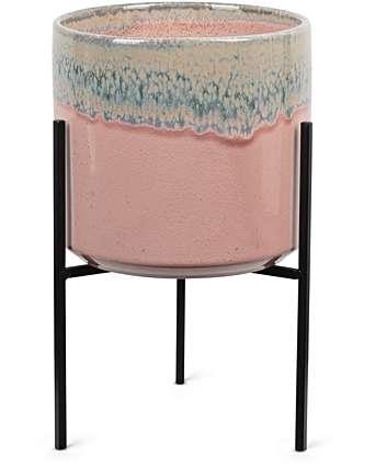 Pink Ceramic Plant Pot - £40.00 from Oliver Bonas*