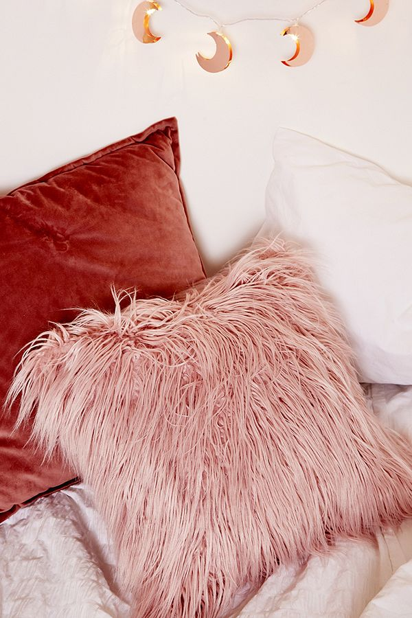 Pink Faux Fur Cushion - £18.00 from Urban Outfitters*
