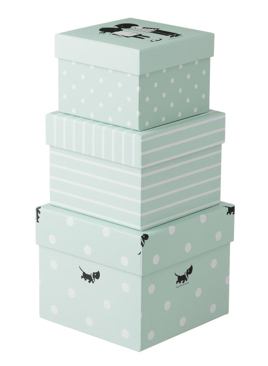 Stacking Storage Boxes - £7.00 from Hema