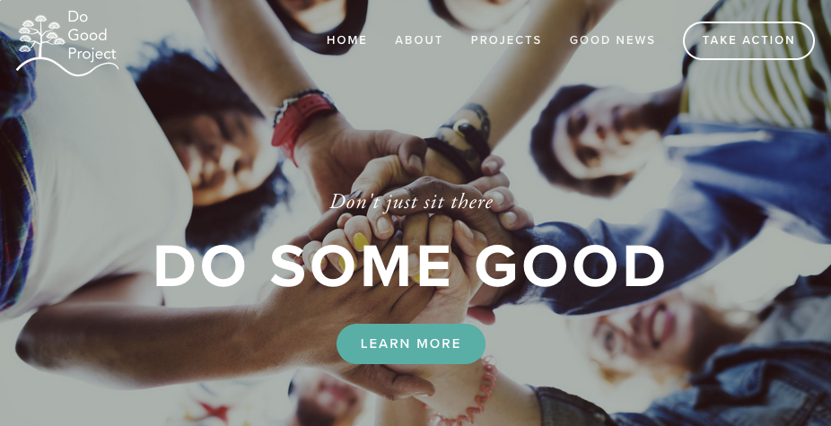 Web Copy - MEANINGFUL ACTIONThe Do Good Project is a community non-profit looking to promote action. Conversational language was used to connect and motivate residents with a familiar voice.