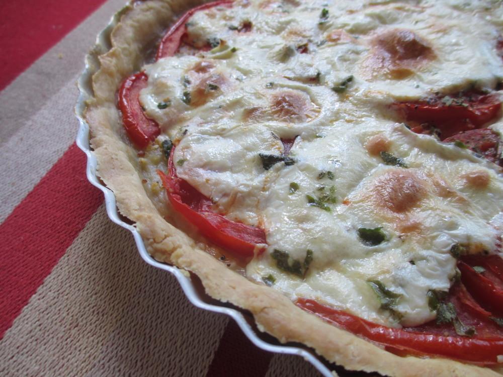 Tomato Mozzarella Tart