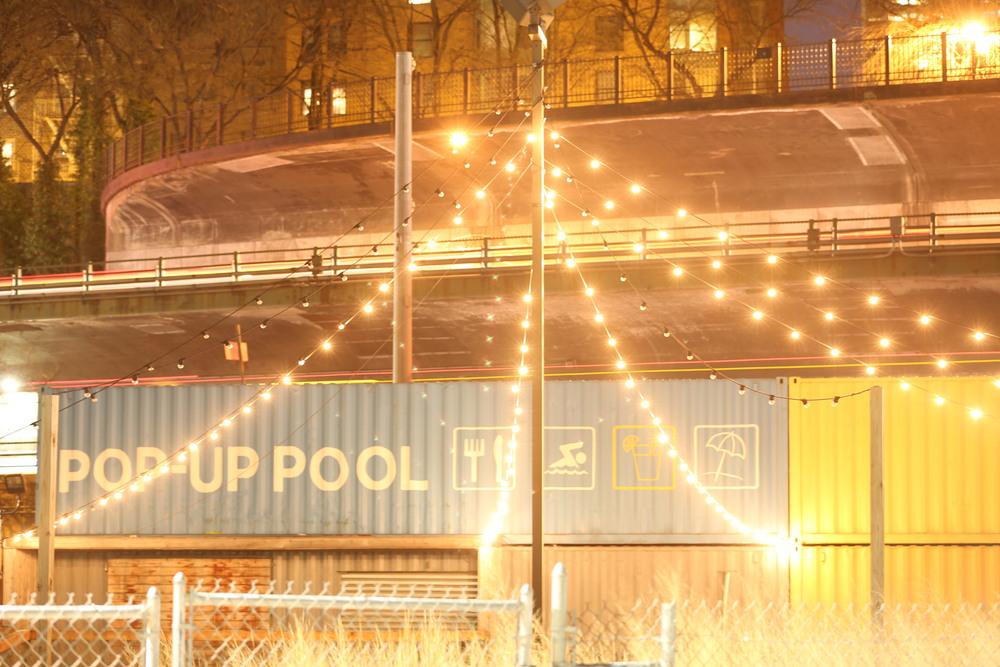 Pop Up Pool in Williamsburg, Brooklyn