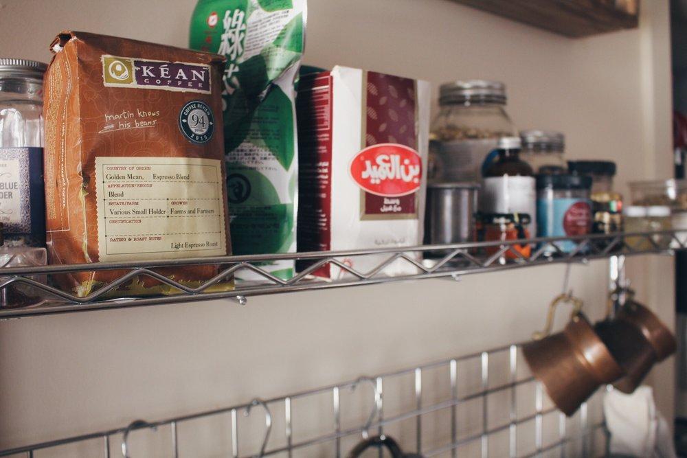 Coffee, teas and herbs.