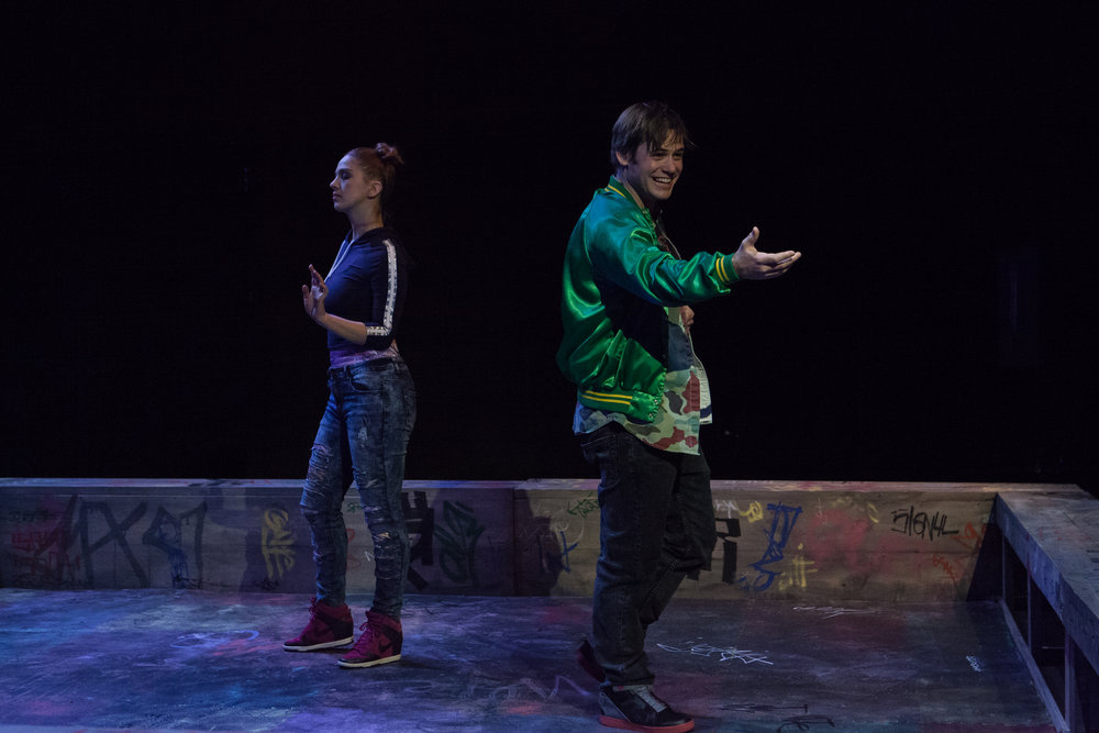 DISCO PIGS opposite Eliza Simpson/ director Matt Dickson/ Photo by Erik Carter