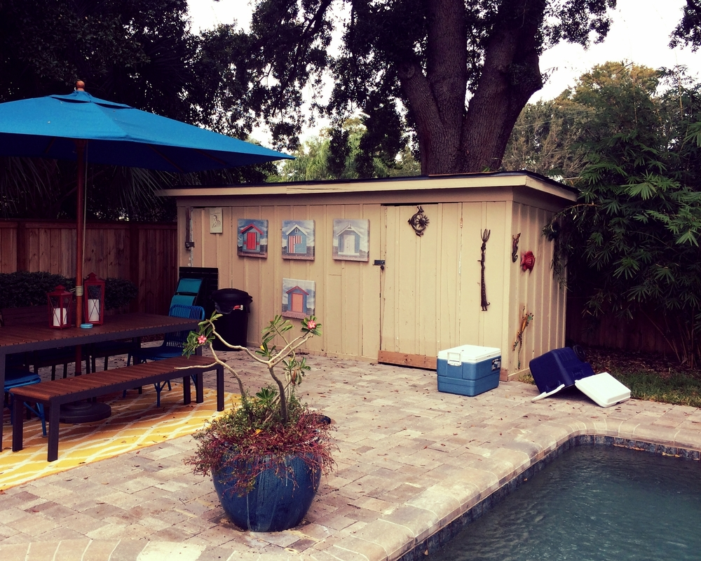 Former life as a backyard pool shed